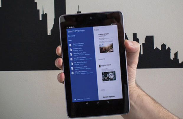 Microsoft Office cho tablet Android