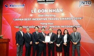 Vietravel nhận giải thưởng 'Japan Best Incentive Travel Awards 2019'
